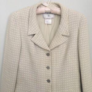Authentic CHANEL Beige Ivory Jacket 40 / 10